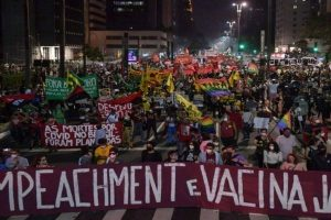 Brazilians storm streets in protest of the Bolsorano government's handling of Covid-19