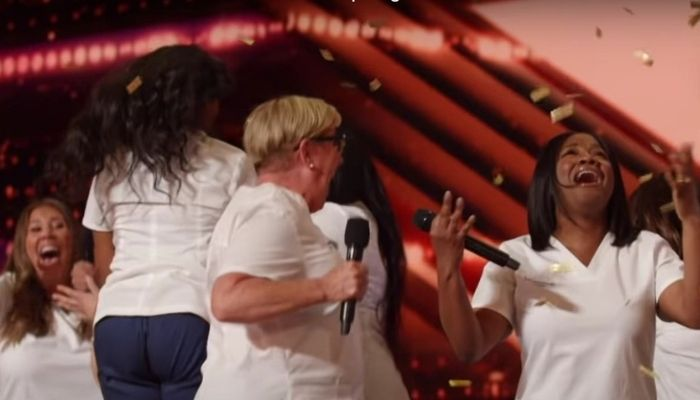 Gorgeous Golden Buzzer performance by the frontline workers on America's Got Talent.